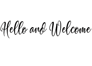 Hello and Welcome Text Image